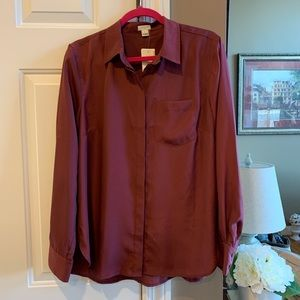NWT J CREW Factory Blouse Size Large